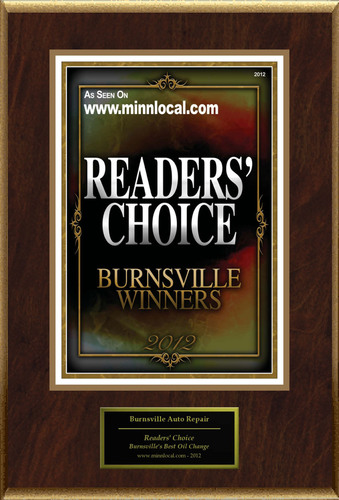 Burnsville Auto Repair Selected For 'Readers' Choice'