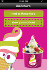 Menchie's Mobile Application Home Screen.  (PRNewsFoto/Menchie's)