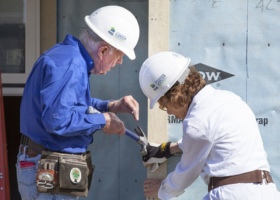 Former President Jimmy Carter and his wife, Rosalynn, kicked off Habitat for Humanity's 31st annual Jimmy & Rosalynn Carter Work Project today. (PRNewsFoto/Habitat for Humanity...)