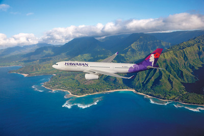 Hawaiian's wide-body, twin-aisle Airbus A330-200 aircraft seats 294 passengers.  (PRNewsFoto/Hawaiian Airlines)