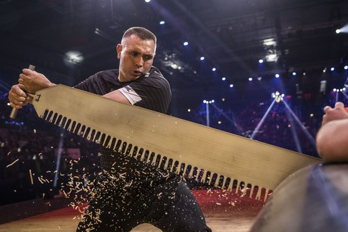 Jason Wynyard is the new World Champion of the STIHL TIMBERSPORTS(R) Series. In Stuttgart the New Zealander won his eighth title (PRNewsFoto/STIHL TIMBERSPORTS Series)