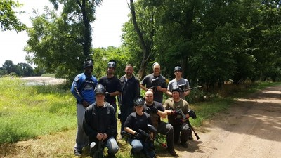 Local paintball enthusiasts were eager to include WWP veterans during their paintball sessions.