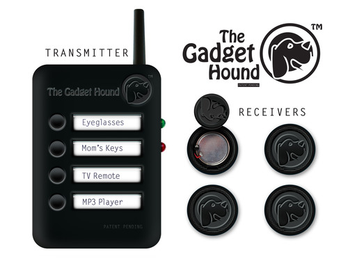 The Gadget Hound - The World's Tiniest Locating Device Sniffs Out in Seconds.  (PRNewsFoto/Gadget Finder, LLC)