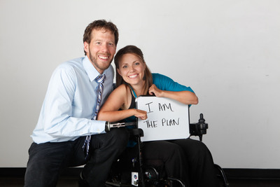 Acceller, Inc., supports the efforts of author Aron Ralston (left), Chanda Hinton, and The Chanda Plan Foundation.  (PRNewsFoto/Acceller, Inc.)