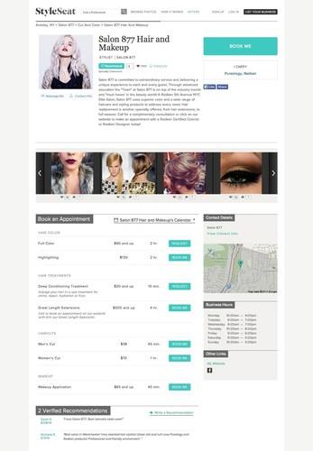 StyleSeat Profile Page for Salon 877 (PRNewsFoto/L'Oreal USA)