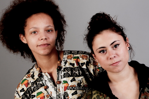 Raw Material's Nanci and Phoebe 'Irondread', who will be performing at the Festa2h Festival in ...