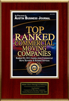 """WG Storage & Delivery Selected For """"Top Ranked Commercial Moving Companies"""". (PRNewsFoto/WG Storage & Delivery) (PRNewsFoto/WG STORAGE & DELIVERY)"""