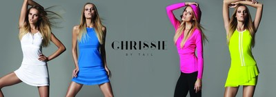 """Legendary tennis star Chris Evert and Tail Activewear have collaborated on a new line of women's tennis and active clothing. Inspired by Ms. Evert, the line is graceful, classy, and sporty with a youthful spirit and femininity, yet suitable for fierce competition. The """"Chrissie by Tail"""" or """"Chrissie"""" line will be distributed exclusively by Tail Activewear. The spring 2015 collections will be available in November 2014 at many leading retailers and online at www.chrissiebytail.com. (PRNewsFoto/Tail Activewear)"""