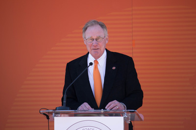 Oklahoma State University officials announced today that the university has surpassed its $1 billion fundraising goal nearly two years ahead of schedule but that the campaign will continue through Dec. 2014. Speakers today included: OSU President Burns Hargis.