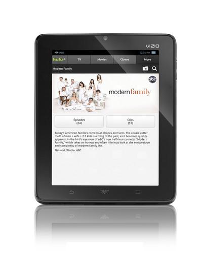 VIZIO's Groundbreaking 8' Tablet Launches Hulu Plus™