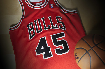 Mitchell & Ness Jordan jersey, front.