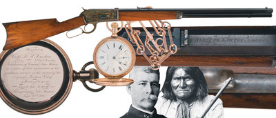 This 1886 Winchester was presented to the man who captured Geronimo.