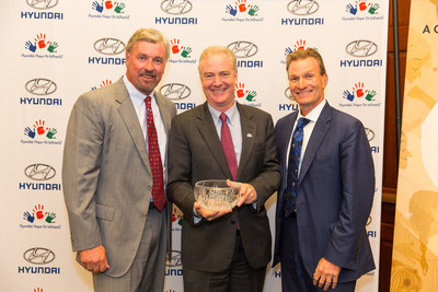 Representative Chris Van Hollen (MD) Poses with Hyundai Motor America President and CEO Dave Zuchowski and Hyundai Hope On Wheels Vice Chairman Scott Fink After Accepting the Hero of Hope Award