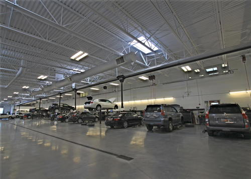 With 29 Shockwave-equipped service bays, Larry H. Miller Lexus Murray is on track to generate more than $1.7 million in incremental revenue every year thanks to Shockwave technology. (PRNewsFoto/Rotary Lift )