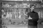 Ray Yoshida in his Chicago residence. Photo: c. 1974. Courtesy of Mary Baber.  (PRNewsFoto/John Michael Kohler Arts Center)