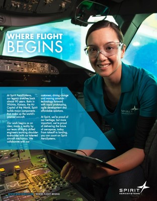 "Spirit AeroSystems, Inc. unveiled a new advertising campaign that positions the company as the place ""Where Flight Begins."""