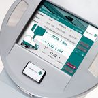 LOGiQ Selfdispatch terminal: Simple menu-guided touch screen operation.