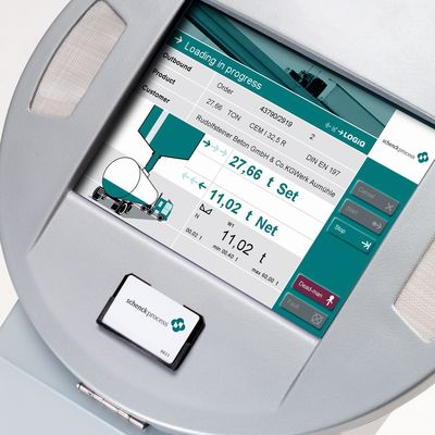LOGiQ Selfdispatch terminal: Simple menu-guided touch screen operation. (PRNewsFoto/Schenck Process GmbH)