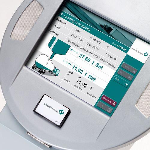 LOGiQ Selfdispatch terminal: Simple menu-guided touch screen operation. (PRNewsFoto/Schenck Process GmbH)