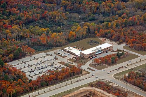 Rendering of proposed Centene Corporation site in Ferguson, MO.