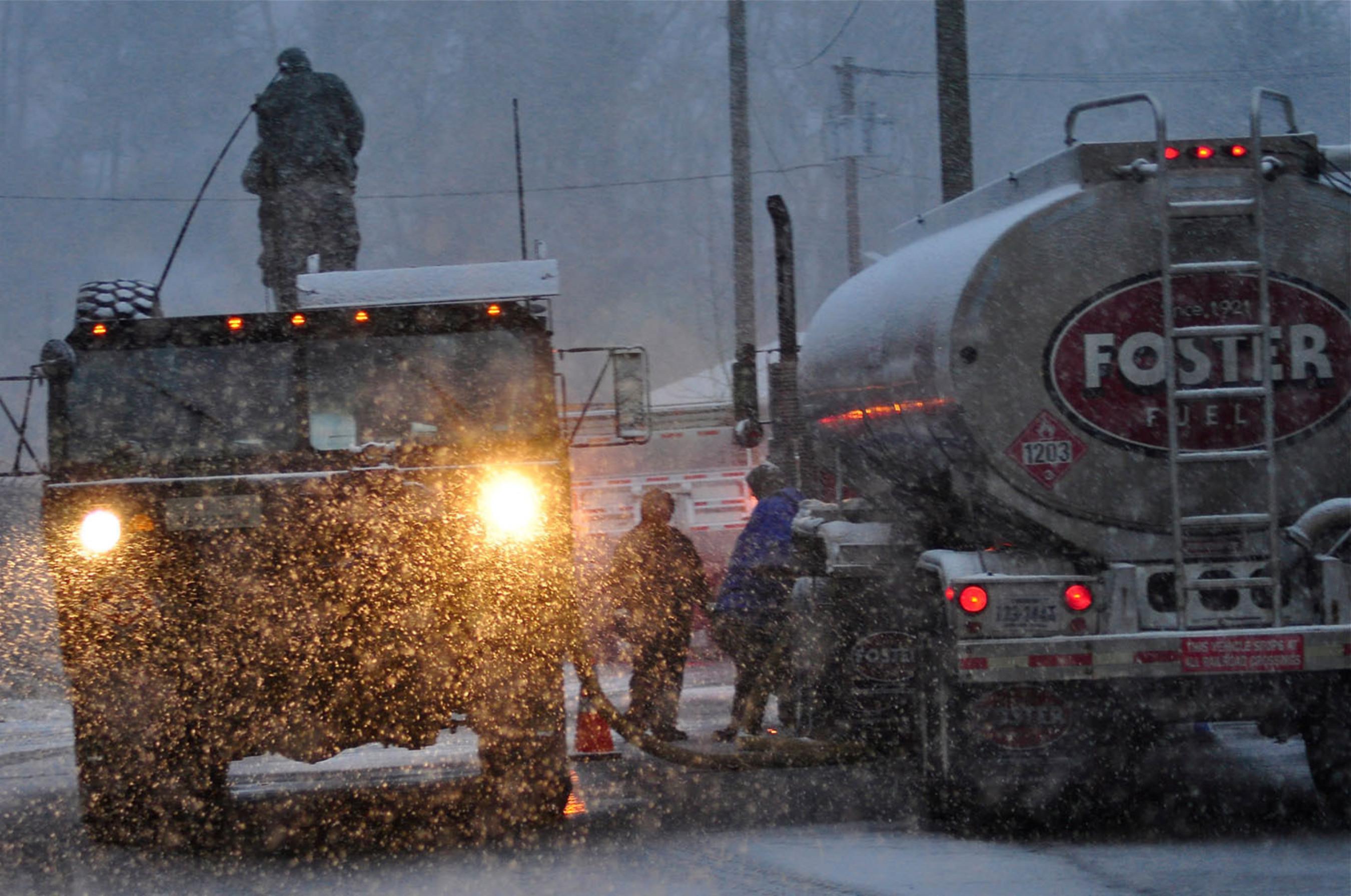 Tanker Support During Sandy.  (PRNewsFoto/Foster Fuels)