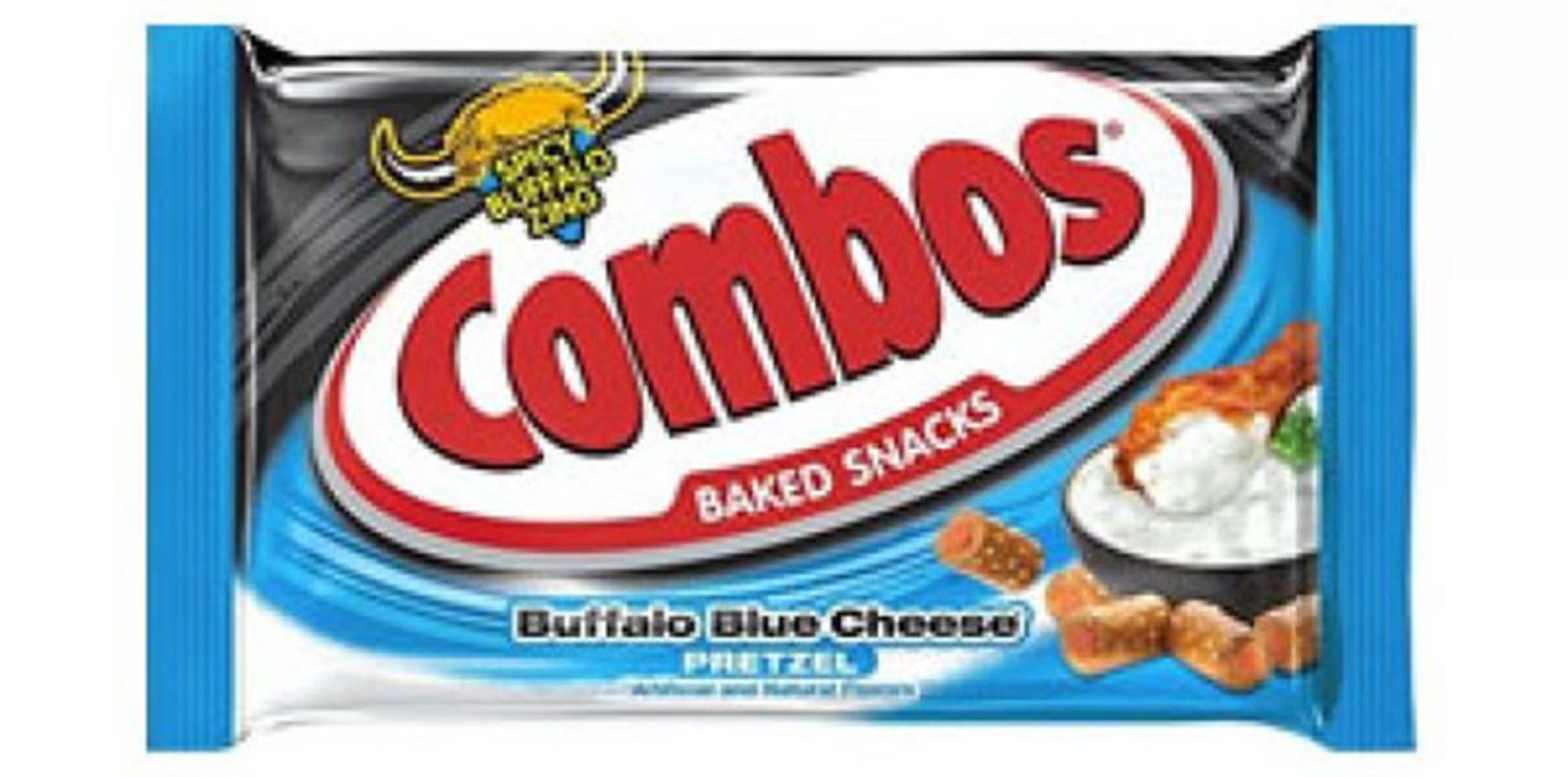 """COMBOS"" SNACK BUFFALO BLUE CHEESE PRETZEL - SINGLES - 1.80 OZ - 18 CT - 12/CA"