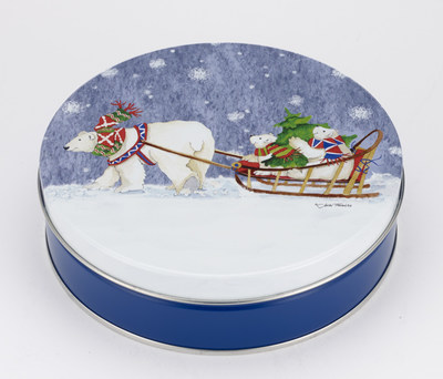 "Ball's ""A Frosty Christmas"" specialty tin wins silver award from the Specialty Graphic Imaging Association."