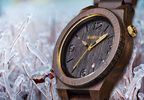 The Alpha Black Gold is the newest addition to WeWOOD's line of eco-friendly accessories. Beautiful African Blackwood is accented by a festive gold crown and hands. Sales from this new watch will help WeWOOD reach its goal of planting 1 million trees by 2020.