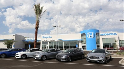Surprise Honda will be holding their grand opening Monday, October 17, 2016, from 5:30 p.m. to 7:30 p.m. John Mendel, Executive Vice President of American Honda Motor Co., will be in attendance. Surprise Honda is located at 13270 N. Autoshow Ave., Surprise, AZ. The state-of-the-art Honda dealership is 55,000-square feet and spans across 10 acres. The dealership added approximately 65 new jobs to the Surprise community and is expected to grow Honda's presence in the greater Phoenix market.