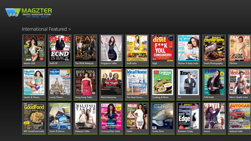 Magzter app on Windows 8.  (PRNewsFoto/Magzter Inc.)