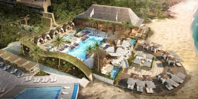 Rendering of Hakkasan Beach Club at Vidanta Los Cabos