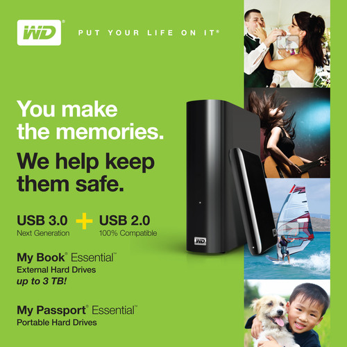 WD® Delivers USB 3.0 and 3 Terabytes With Its New External Hard Drive Product Lines