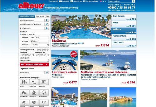 Screenshot alltours.nl