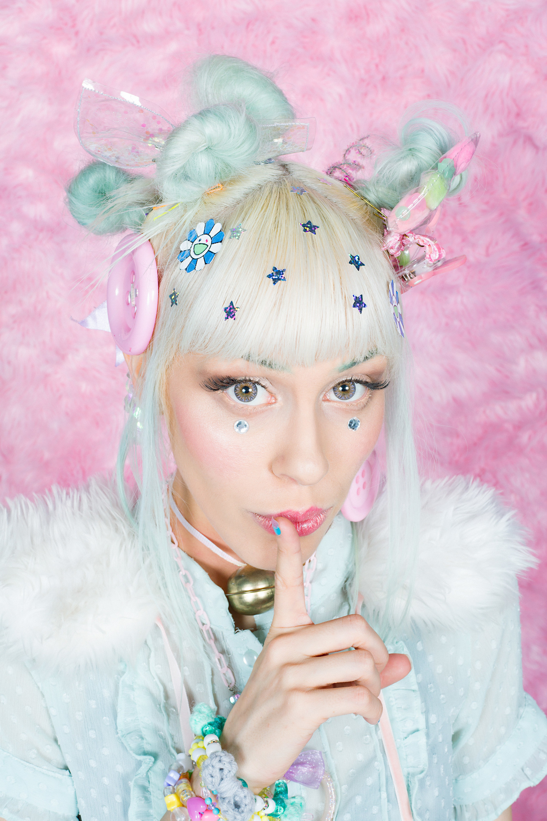 Kawaii sparkle princess Audra, hair color by Tegan Fiore and style by Prissie Curiel for Luxelab, photography by Forrest Black and Amelia G