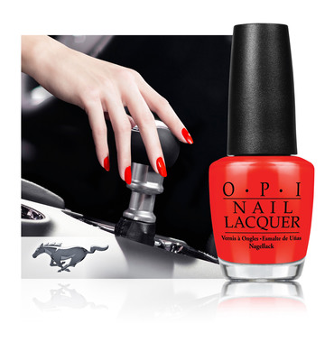 OPI Joins Ford Mustang to Launch Limited Edition Nail Lacquer Collection.  (PRNewsFoto/OPI Products Inc.)