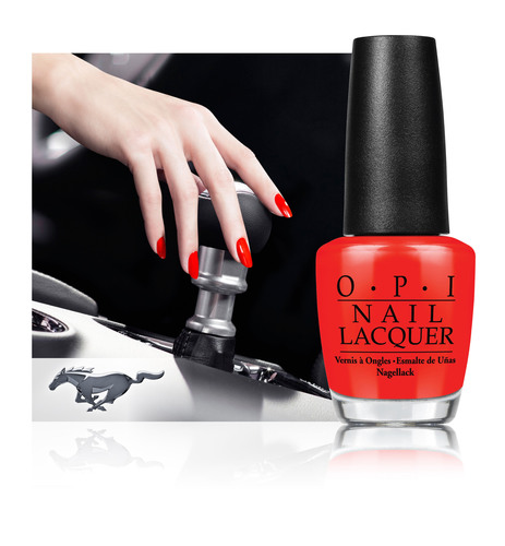OPI Joins Ford Mustang to Launch Limited Edition Nail Lacquer Collection. (PRNewsFoto/OPI Products Inc.) (PRNewsFoto/OPI PRODUCTS INC_)