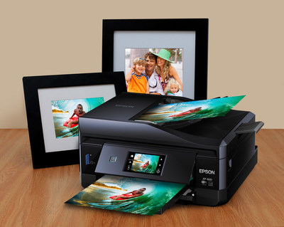 Designed for multitasking families and photo enthusiasts, the Epson(R) Expression(R) Premium family of Small-in-Ones(TM) deliver consumer-rated unbeatable photo quality and crisp, sharp text with Epson's exclusive MicroPiezo(R) printing technology and Claria(R) Premium inks. The Expression Premium family is also equipped with Epson Connect(TM) for the ability to access, print and scan documents, photos, emails and web pages from a tablet, smartphone or computer from literally anywhere in the world. Plus, edit, scan and share photos directly to Facebook(TM) or other popular cloud services all in one single workflow. (PRNewsFoto/Epson America, Inc.)