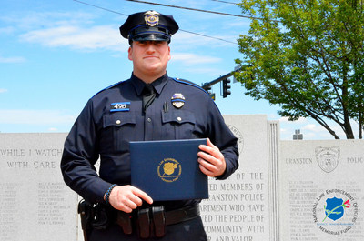The National Law Enforcement Officers Memorial Fund has selected Officer Brenton Medeiros, of the Cranston (RI) Police Department, as the recipient of its Officer of the Month Award for May 2016.