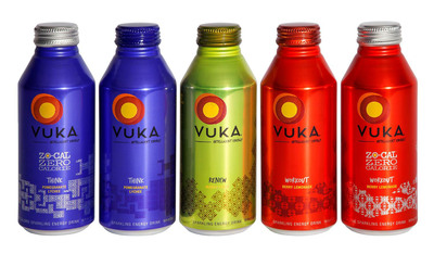 Vuka(TM) Intelligent Energy drinks are now available in Ball Corporation's 16-oz. Alumi-Tek(R) bottles.  (PRNewsFoto/Ball Corporation)