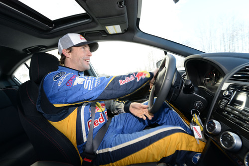 Travis Pastrana driving a 2015 Subaru WRX in Vermont. (PRNewsFoto/Subaru of America, Inc.)