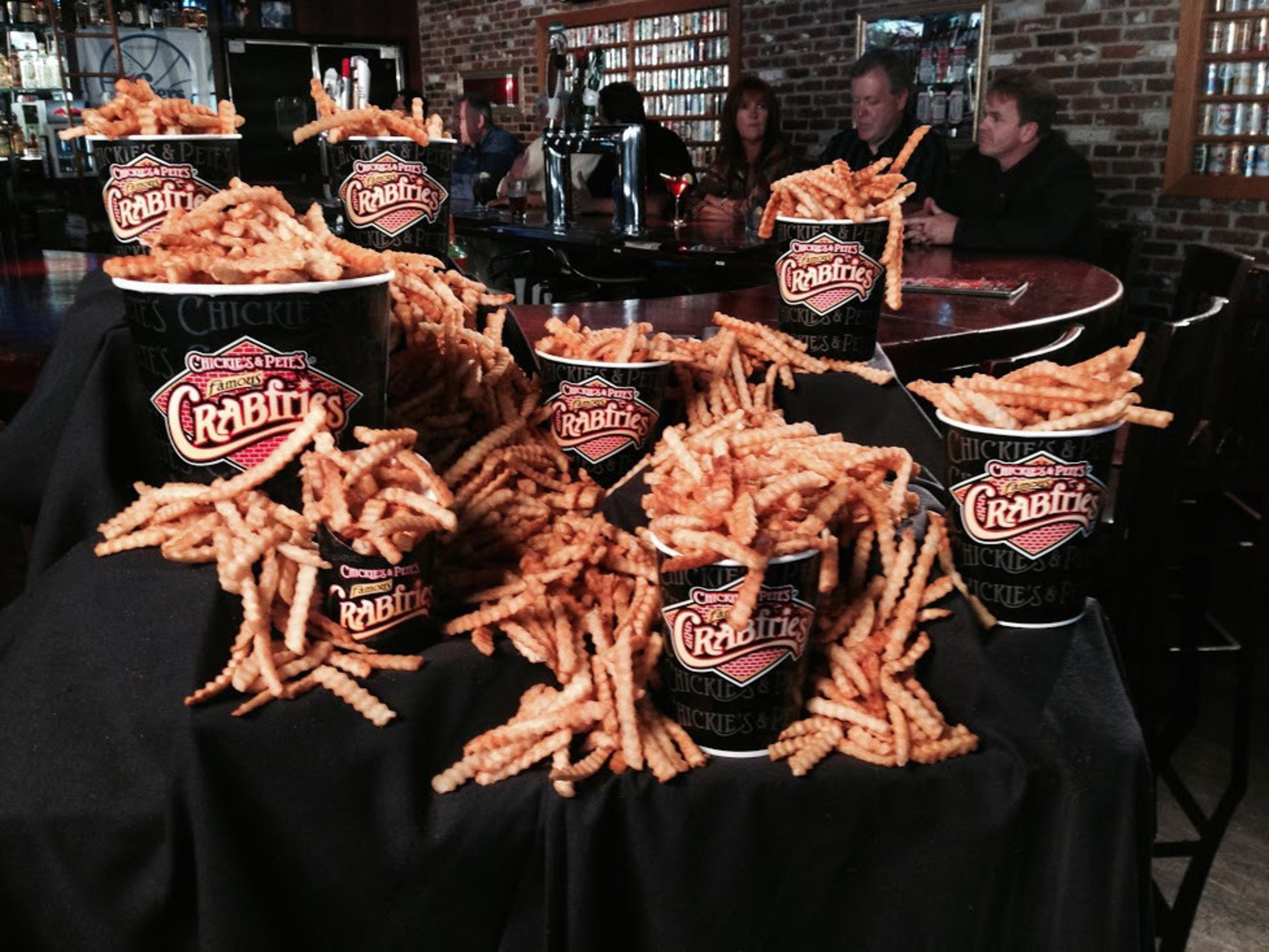 """Chickie's & Pete's celebrates """"Crabfries for Heroes"""" on National French Fry Day. Proceeds of $1 Crabfries sales aid the families of fallen Philadelphia Police Officers. The event runs at all Chickie's & Pete's full service locations across the Delaware Valley Wednesday July 13th. Visit www.ChickiesandPetes.com for details."""