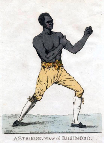AMERICAN-BORN SUPERSTAR BOXER: Bill Richmond (1763-1829). Review Elizabeth Meader's African American History Collection here: www.BlackHistoryTreasures.com.  (PRNewsFoto/Freeman Institute)