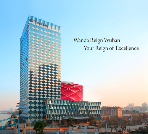 Wanda Hotels & Resorts proudly announces the opening of its first luxury brand Wanda Reign in Wuhan.  (PRNewsFoto/Wanda Hotels & Resorts)