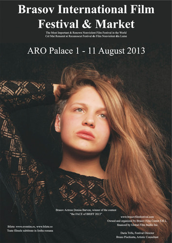 Official poster of BRIFF 2013 featuring Denisa Barvon.  (PRNewsFoto/Brasov International Film Festival & Market)