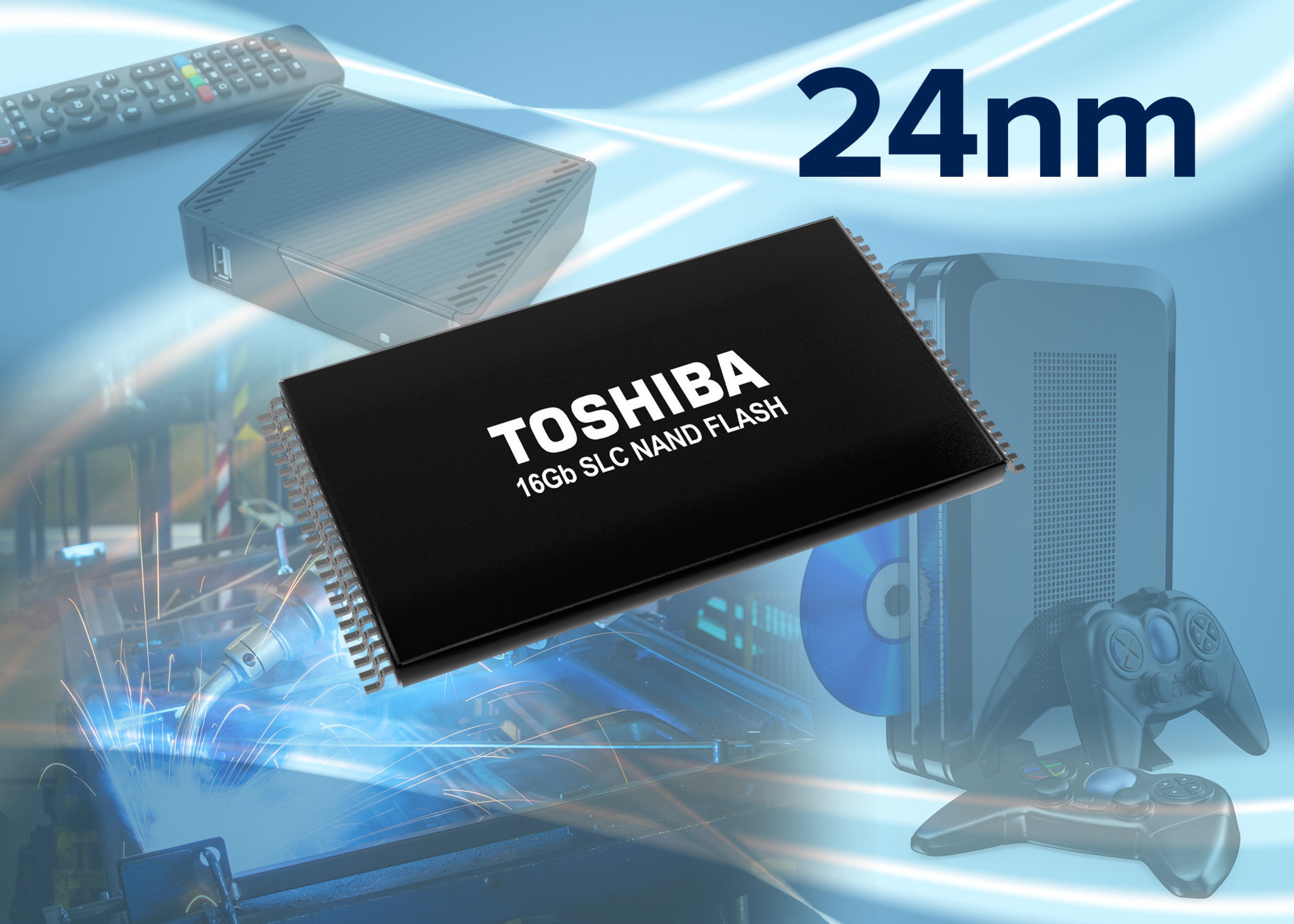 Toshiba Expands 24nm SLC NAND Flash Lineup to Address Industrial Applications