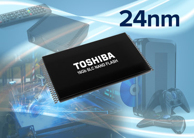 Toshiba has added 16Gb BENAND to its lineup of 24nm SLC NAND flash memory solutions.