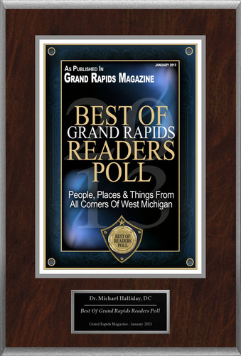 "Dr. Michael Halliday Selected For ""Best Of Grand Rapids Readers Poll"".  (PRNewsFoto/The Chiropractic Doctors)"