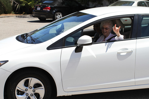105-Year-Old Woman Surprised With New Car from Anonymous Fan
