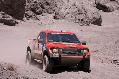 The Team USA FabSchool-General Tire Ford Raptor Leads Class After Stage 7 of the Dakar Rally