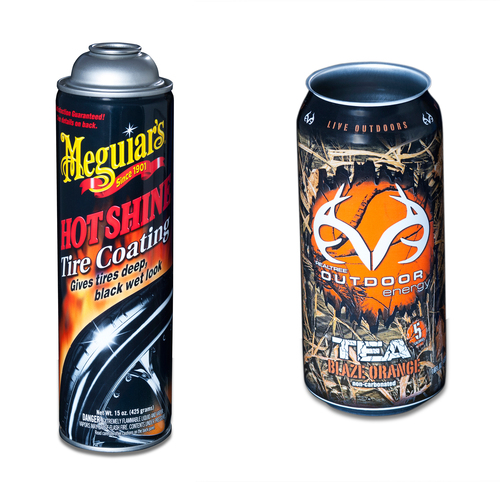 The International Metal Decorators Association honors two aerosol and beverage packaging designs from Ball Corporation. (PRNewsFoto/Ball Corporation)